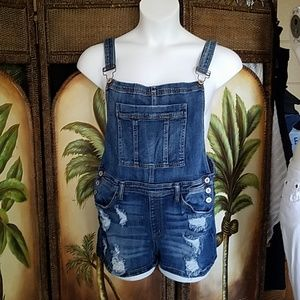 KanCan destroyed Overall Shorts sz 13/30